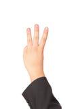 выставки руки жеста Стоковое Изображение RF