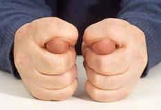 выставки человека s руки жеста смоквы Стоковые Изображения
