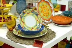 Выставк-окно с плитами украшения Стоковое Фото