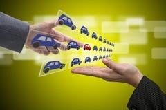 выставочный зал автомобиля электронный Стоковые Изображения RF