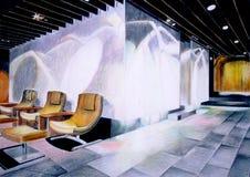 выставочный зал перспективы Стоковые Фото