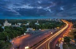 Выставочный центр на Киеве, vdnh, sssr, павильоне выставки, Киеве, памятнике Стоковое Фото