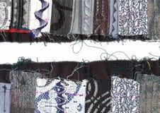 выстеганная ткань граници Стоковые Фотографии RF