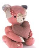 выстеганное сердце ситца медведя Стоковые Фотографии RF