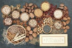 Высушенная высокая здоровая еда волокна стоковое фото rf