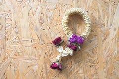Высушенная гирлянда цветков символ уважения Стоковое Фото