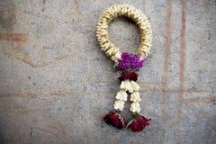 Высушенная гирлянда цветков символ уважения Стоковые Фото