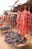 Высушенная еда в Камбодже Стоковые Фотографии RF