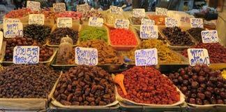 Высушенная еда на рынке в Таиланде Стоковые Фото