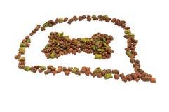 Высушенная еда для собаки/щенка или кота Стоковое Изображение RF