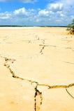 высушенная земля ближайше Стоковые Фото