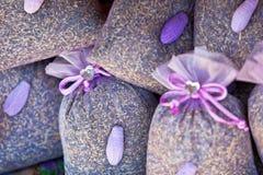 Высушенная корзина саше лаванды Стоковое Изображение RF