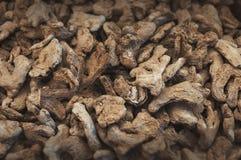 Высушенная куча имбиря выбрала фокус стоковое фото