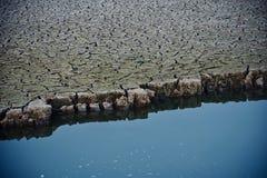 Высушенная почва с открытыми морями стоковые изображения rf