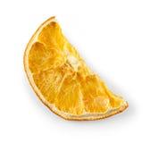 Высушенная половина куска апельсина, изолированного на белизне Стоковая Фотография