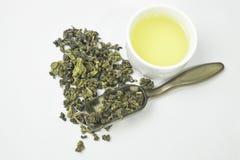 Высушенная предпосылка изолированная чаем белая Стоковое Изображение
