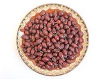 Высушенная плита плодов шиповника Стоковое фото RF
