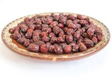 Высушенная плита плодов шиповника Стоковые Фотографии RF