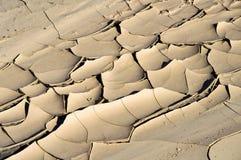 Треснутая сухая грязь в мытье реки Стоковые Фото
