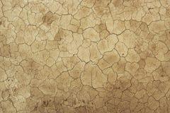 Высушенная текстура предпосылки грязи грязи - глобальное потепление пустыни стоковые изображения
