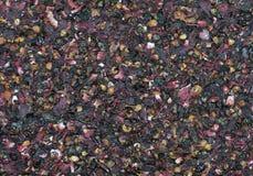 Высушенная текстура чая розового бедра стоковое фото