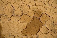 Высушенная треснутая предпосылка текстуры почвы земли земная Стоковая Фотография RF