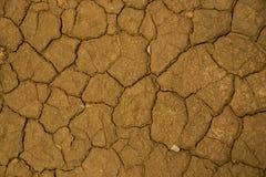 Высушенная треснутая предпосылка текстуры почвы земли земная Стоковая Фотография