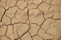 Высушенная треснутая предпосылка текстуры почвы земли земная Стоковые Изображения
