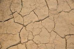 Высушенная треснутая предпосылка текстуры почвы земли земная Стоковые Фотографии RF