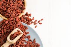 Высушенная ягода, предпосылка Goji крупного плана Стоковое Фото