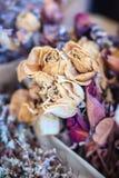 Высушенная wedding предпосылка букета цветка роз поднимающее вверх букета близкое Стоковые Фото