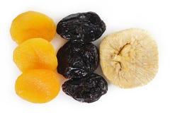 3 высушенного близкого - плодоовощ печатает на машинке вверх Стоковая Фотография