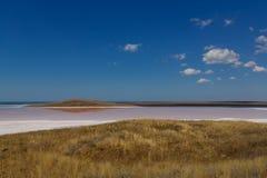 Высушенное вверх по озеру соли Стоковые Изображения RF