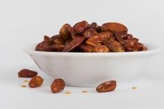 Высушенное красное Chilis в шаре Стоковое фото RF