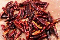 Высушенное красное Chilis Стоковое фото RF