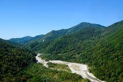 Высушенное река горы Стоковая Фотография