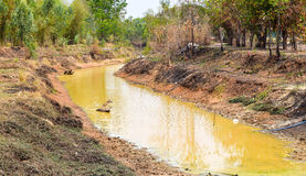 Высушенное река с отказами Стоковые Фото