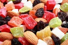 высушенное собрание fruits гайки Стоковое Изображение