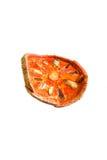 высушенное bael предпосылки - плодоовощ отрезает белизну Стоковая Фотография