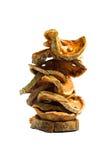 высушенное bael предпосылки - плодоовощ отрезает белизну Стоковая Фотография RF