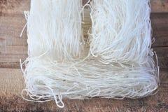 Высушенные лапши риса, азиатская еда, Стоковое Фото