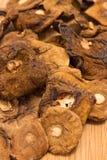 Высушенные грибы на холсте Стоковое Фото
