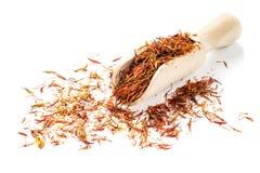 Высушенные лепестки сафлора (ложный шафран) стоковые изображения rf