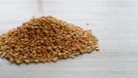 Высушенные зерна горохов видеоматериал