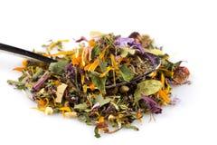 Высушенные листья травяного чая Стоковое фото RF