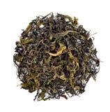 Высушенные лист чая изолированные на белой предпосылке Стоковое Изображение RF