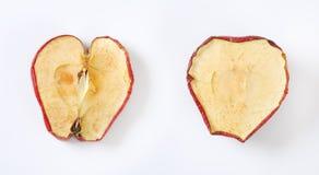 Высушенные половины яблока Стоковая Фотография
