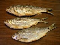 Высушенные посоленные рыбы для еды Стоковое Фото