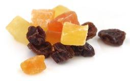 Высушенные плодоовощи абрикос, папапайя и изюминка стоковое изображение rf