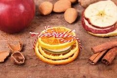 Высушенные плодоовощи в ленте Стоковые Фото